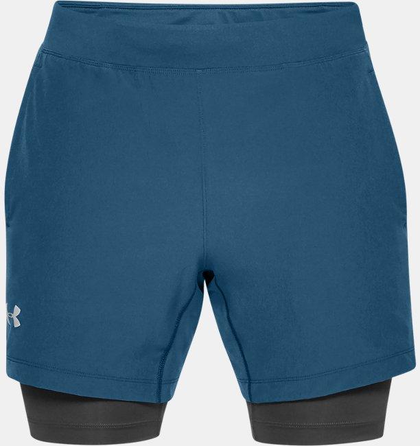 Mens UA Qualifier Speedpocket 2-in-1 Shorts