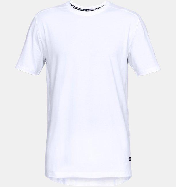 Heren T-shirt UA Baseline Long Line met korte mouwen