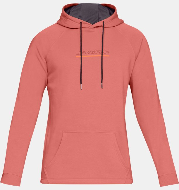 Mens UA Baseline Fleece Graphic Hoodie