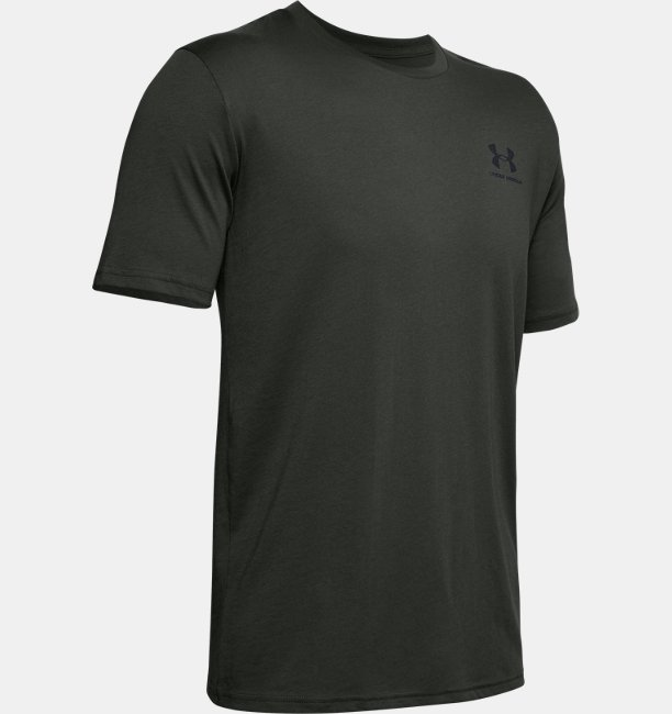 Kaus Lengan Pendek UA Sportstyle Left Chest untuk Pria