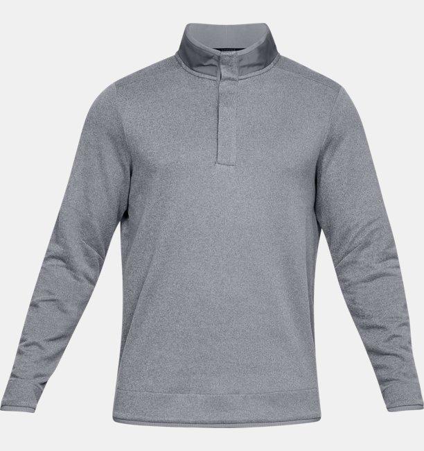 Mens UA Storm SweaterFleece Crestable Snap Mock