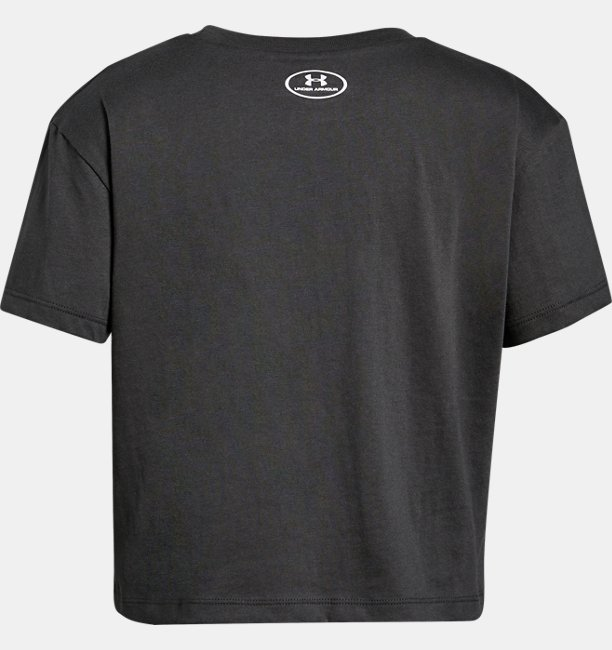 Girls UA Print Fill Logo Short Sleeve