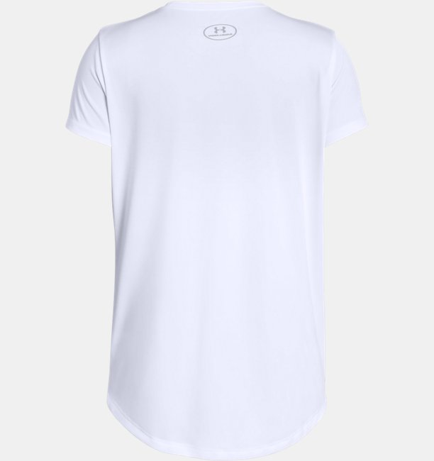 Girls UA Linear Wordmark Short Sleeve