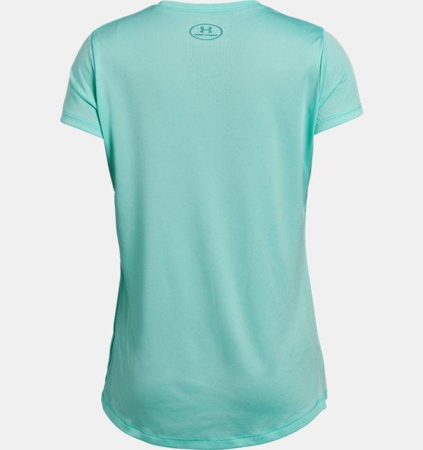 Girls UA Linear Wordmark Short Sleeve