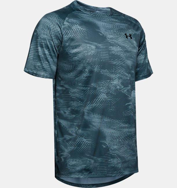Mens UA Tech™ 2.0 Printed Short-Sleeve