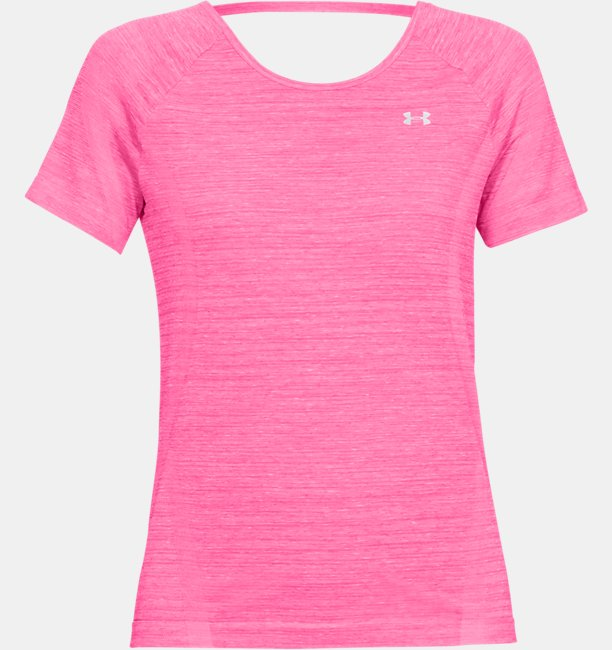 Womens UA Vanish Seamless Keyhole Spacedye Short Sleeve