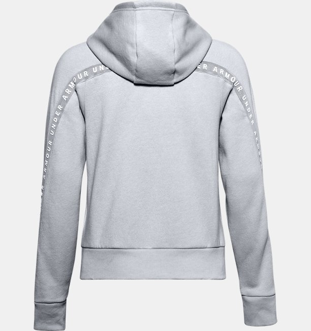 Sudadera UA Taped Fleece Full Zip para Mujer