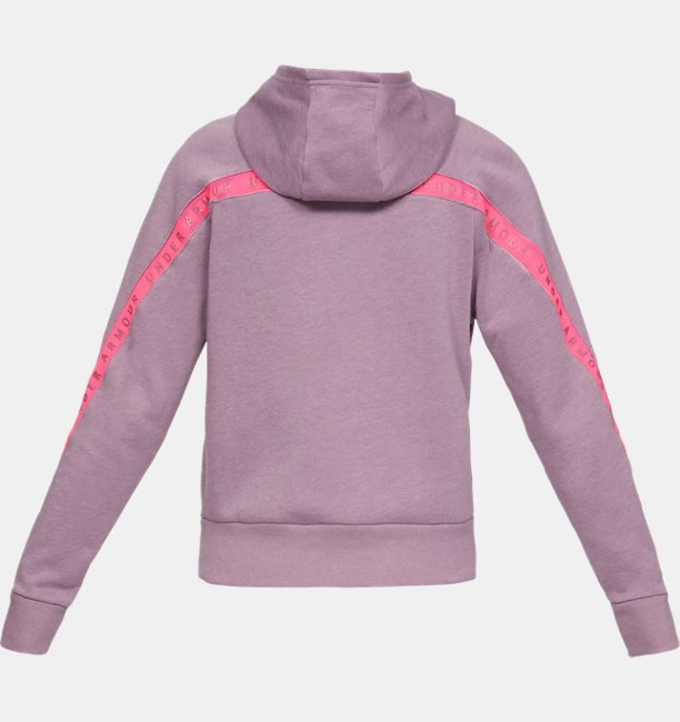Womens UA Taped Fleece Full Zip