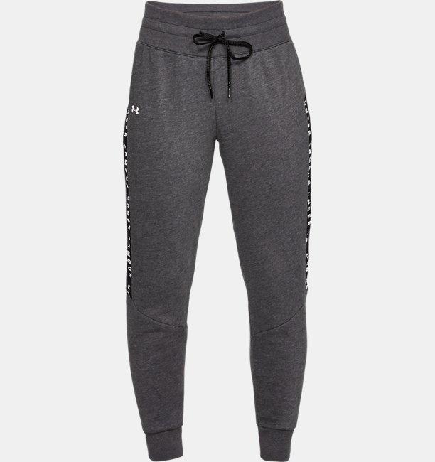 Womens UA Taped Fleece Pants