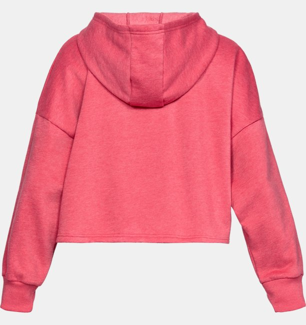 Womens UA Taped Fleece Hoodie