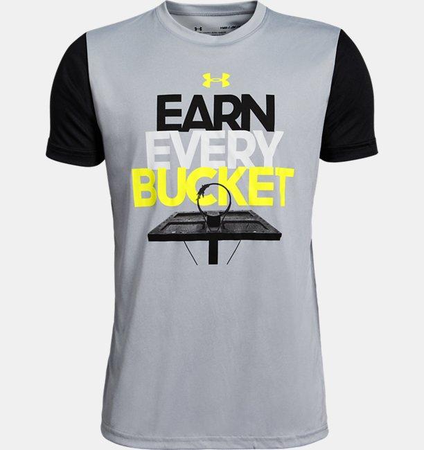 Boys UA Earn Every Bucket Short Sleeve