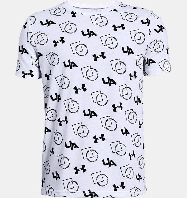Boys UA Sportstyle Print Short Sleeve