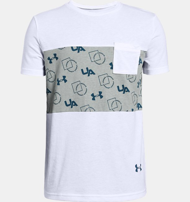 Camiseta de Treino Infantil Masculina Under Armour Sportstyle Pocket