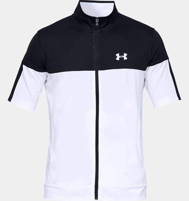 【アウトレット】UAスポーツスタイル ピケ ショートスリーブ フルジップ(トレーニング/MEN)