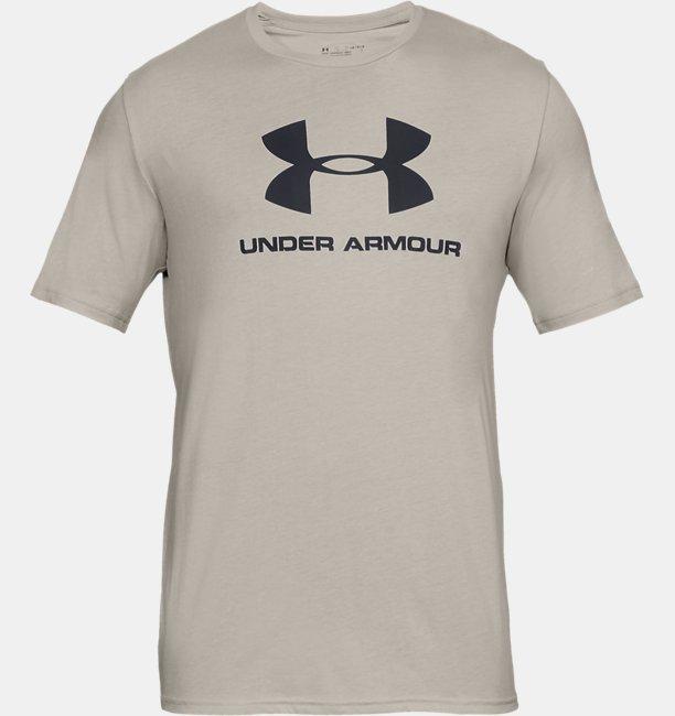 Herren UA Sportstyle Kurzarm-Oberteil mit Logo