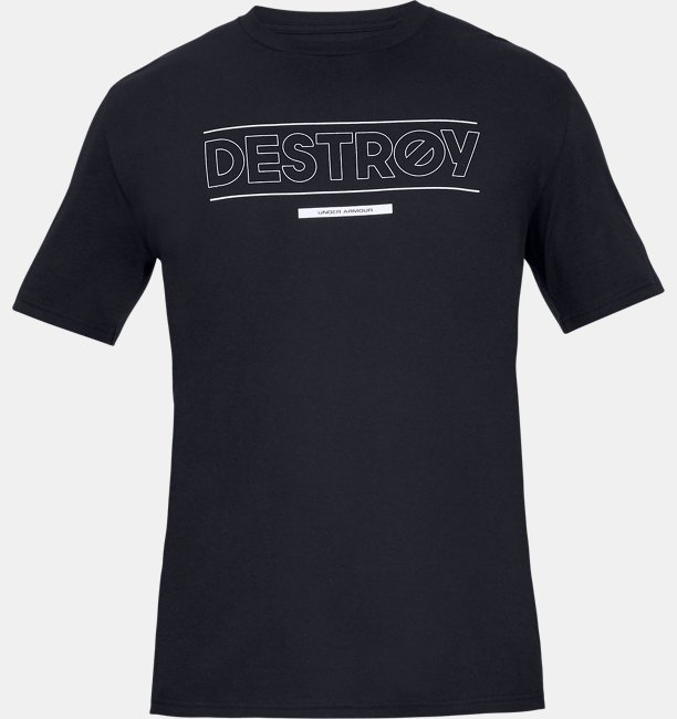 Mens UA WFN Destroy Short Sleeve T-Shirt