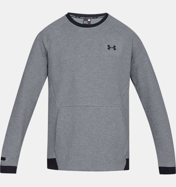 Herenshirt UA Unstoppable Double Knit Crew