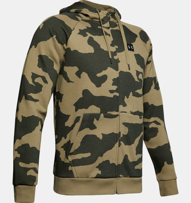 Mens UA Rival Fleece Camo Full Zip Hoodie