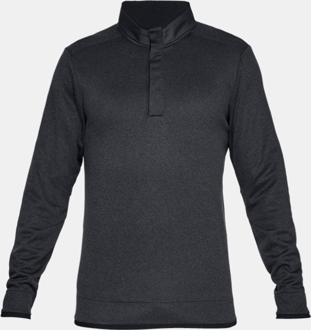 Mens UA Storm SweaterFleece Heather Snap Mock