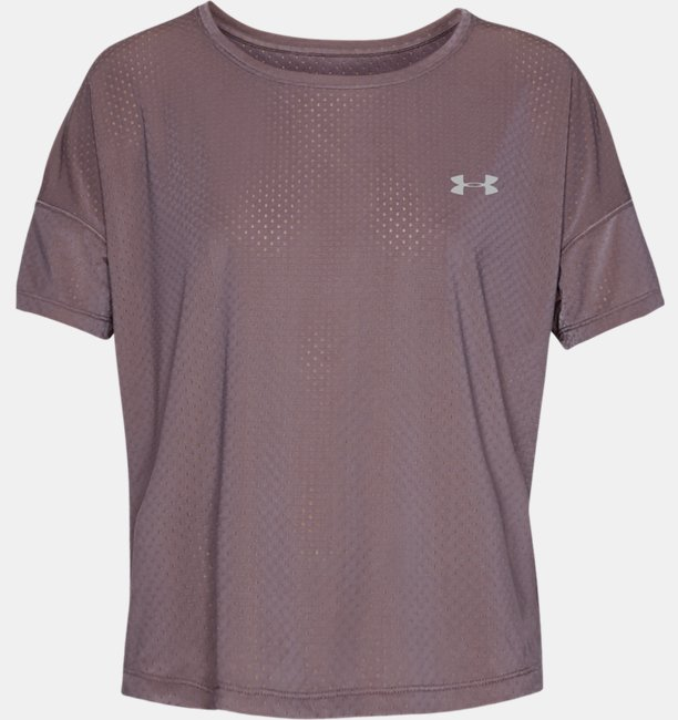 Womens UA Armour Sport Eyelet Flowy Short Sleeve