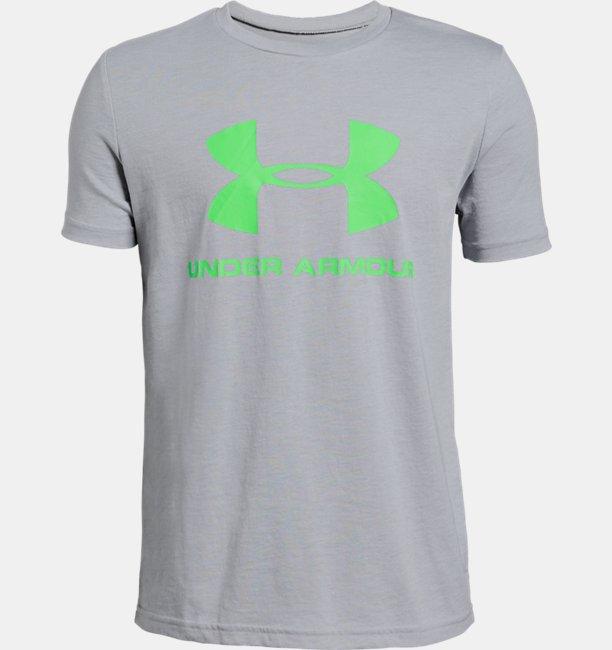 Boys UA Sportstyle Logo Short Sleeve