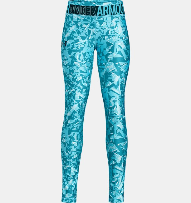 Girls HeatGear® Armour Printed Leggings