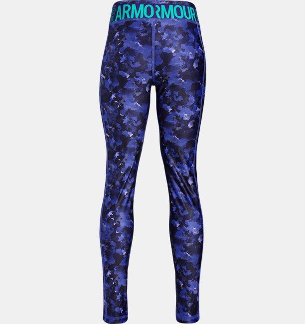 Girls HeatGear® Armour Printed Leggings