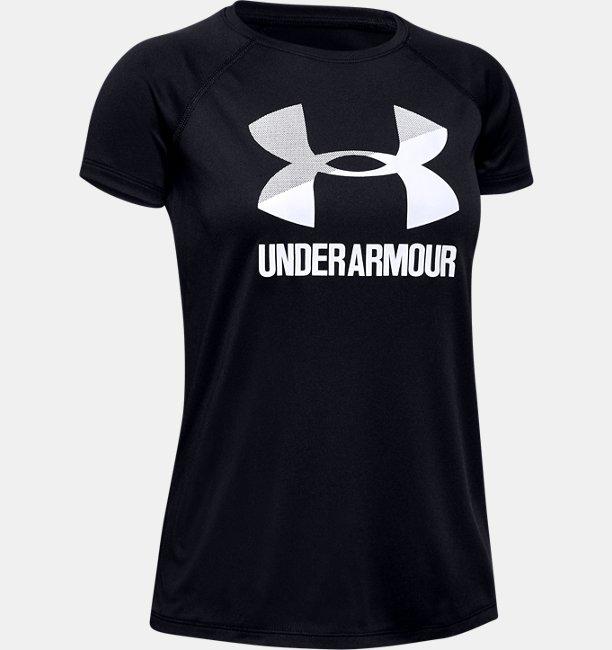 5aaa99474e50f5 Girls UA Big Logo Solid T-Shirt