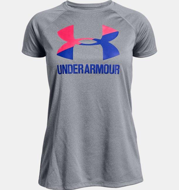 Camiseta de Treino Infantil Feminina Under Armour Big Logo Solid