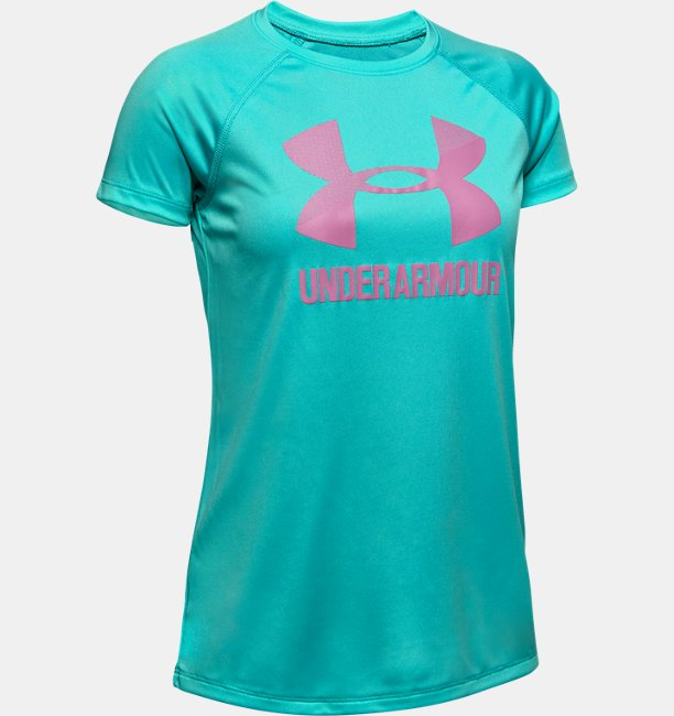 Girls UA Big Logo Solid T-Shirt