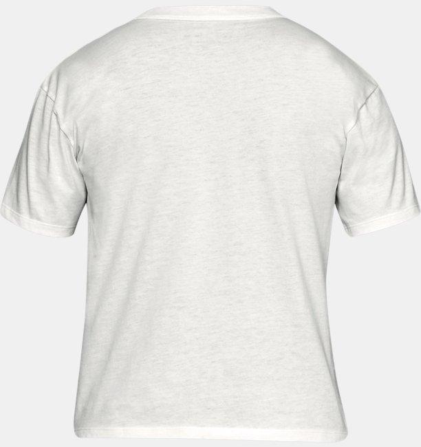 Camiseta UA Tape Girlfriend Crew Feminino