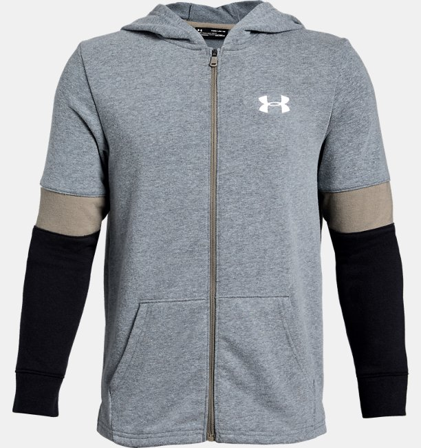 Moletom de Treino Infantil Masculino Under Armour Rival Terry Full Zip