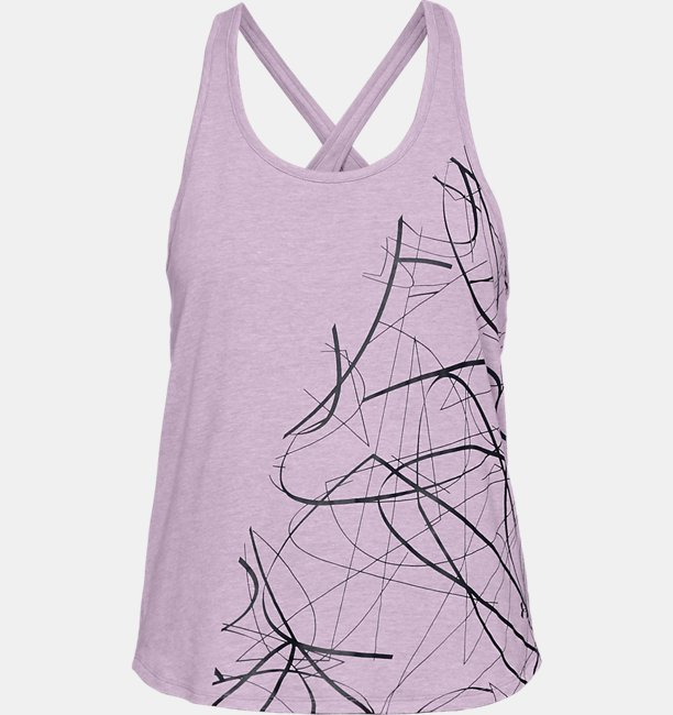 Womens UA Abstract Graphic Crossback Tank