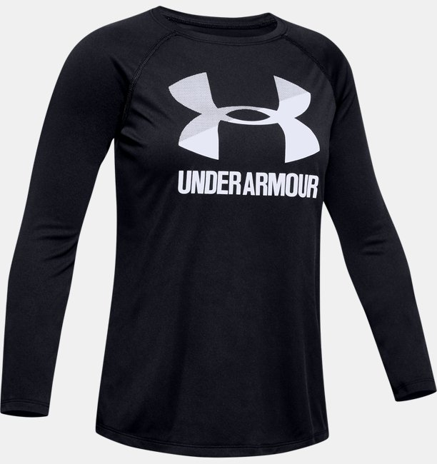 Girls' UA Big Logo Long Sleeve Shirt