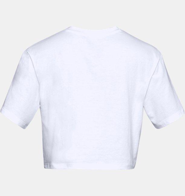 Womens UA Be Seen Graphic Crop Short Sleeve