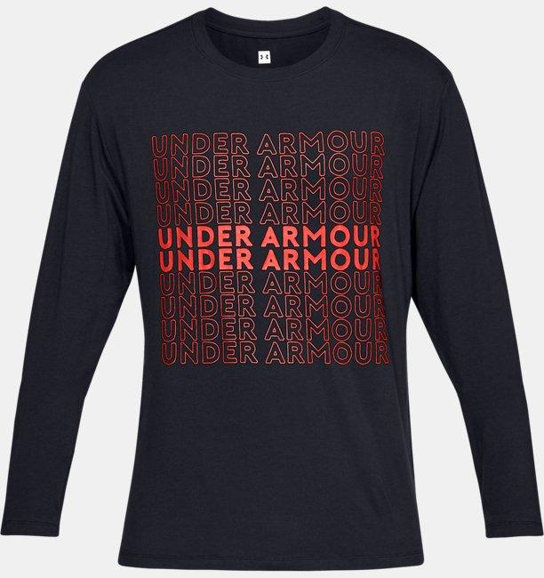 Mens UA Be Seen Long Sleeve Graphic
