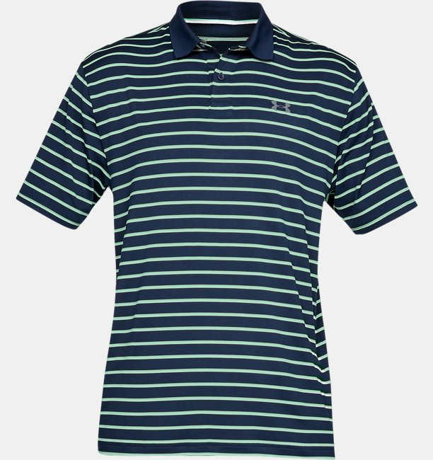 Mens UA Performance Polo Textured Stripe