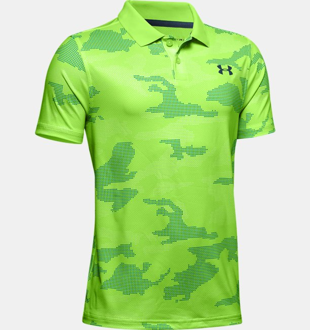 Boys UA Performance Polo Textured Printed