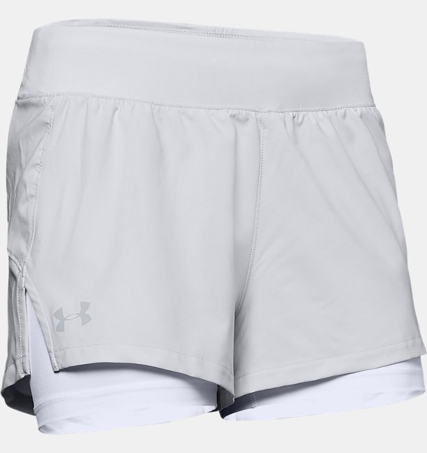 Womens UA Launch SW 2-in-1 Shorts