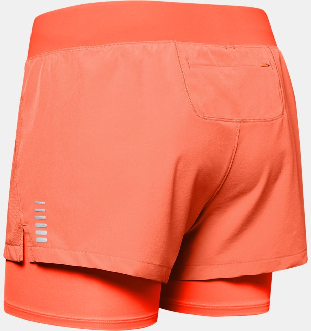 Shorts UA Qualifier Speedpocket 2-in-1 para Mujer