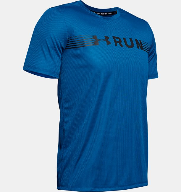 Playera Manga Corta UA Run Warped para Hombre