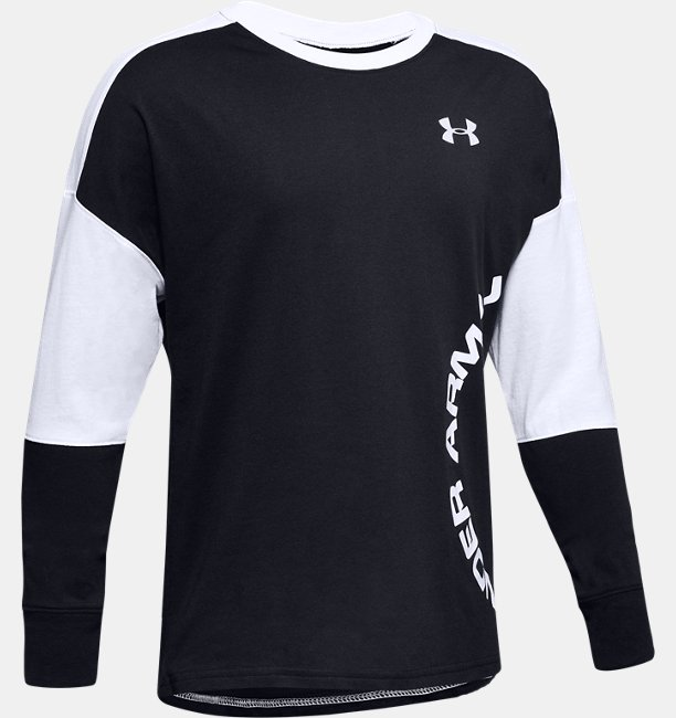 Boys UA Sportstyle Color Blocked Long Sleeve