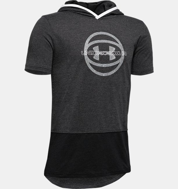Boys UA Baseline Short Sleeve Hoodie