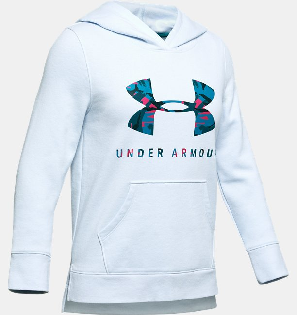 Girls UA Rival Print Fill Logo Hoodie
