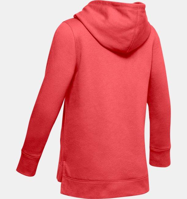 Sweat à capuche UA Rival Print Fill Logo pour fille