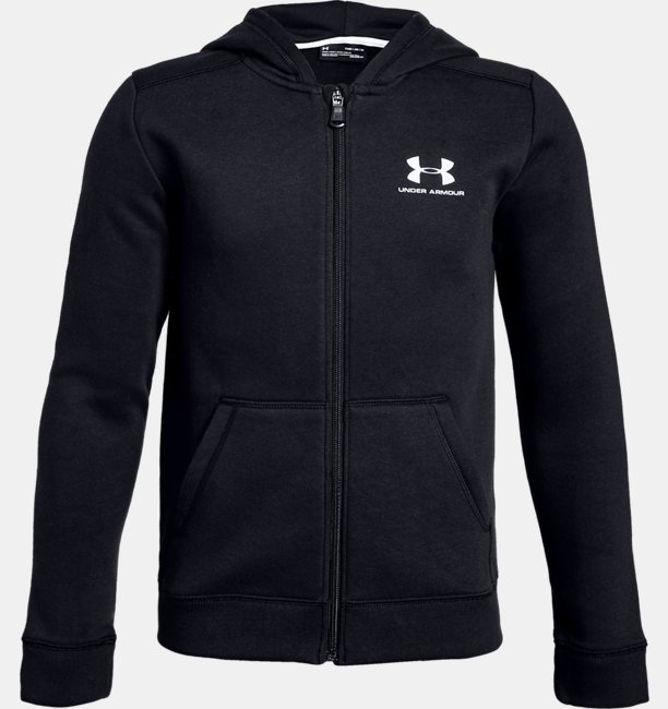 Boys UA Rival Fleece Full Zip Hoodie