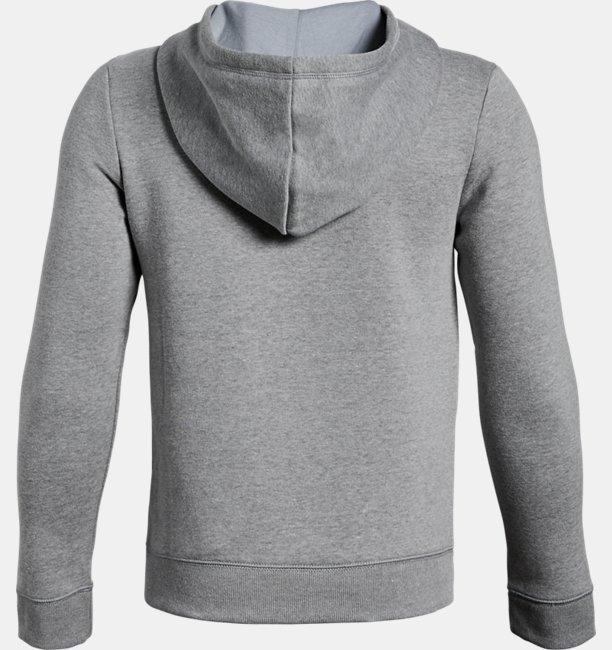 Jungen UA Rival Fleece-Hoodie mit durchgehendem Zip