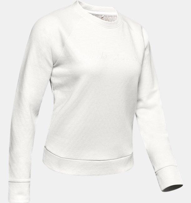 UAリカバー フリース スクリプト クルー(トレーニング/トレーナー/WOMEN)