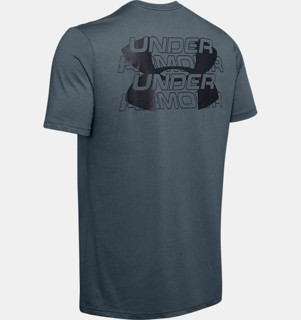Mens UA Stacked Wordmark Short Sleeve
