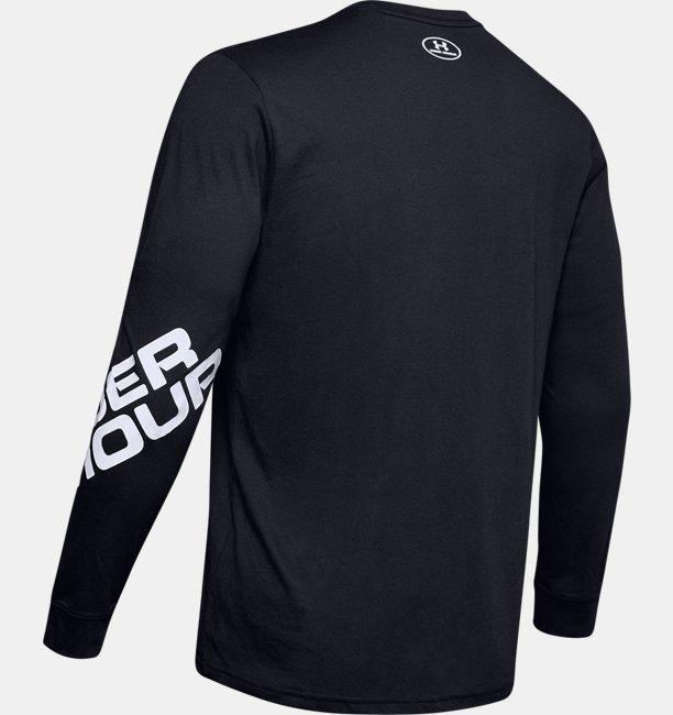 Mens UA Wordmark Sleeve Long Sleeve
